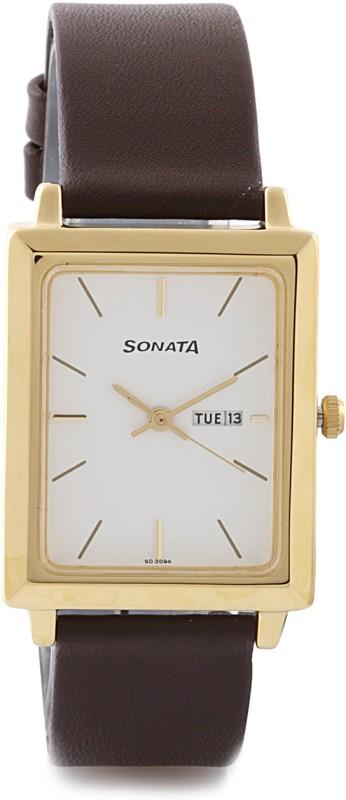 Sonata NG7078YL03 Analog Watch For Men