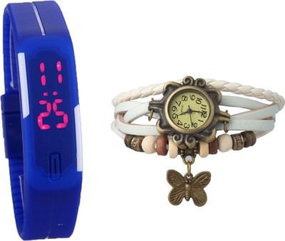 MIFY MFY79_BLU_(V)WHT Analog-Digital Watch  - For Boys, Couple, Girls, Men, Women