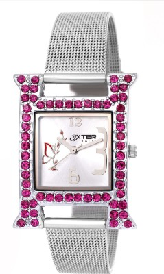 Oxter Crystal Pink H Modest Analog Watch  - For Women