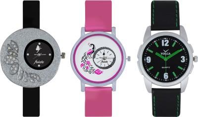 Frida Designer VOLGA Beautiful New Branded Type Watches Men and Women Combo279 VOLGA Band Analog Watch  - For Couple