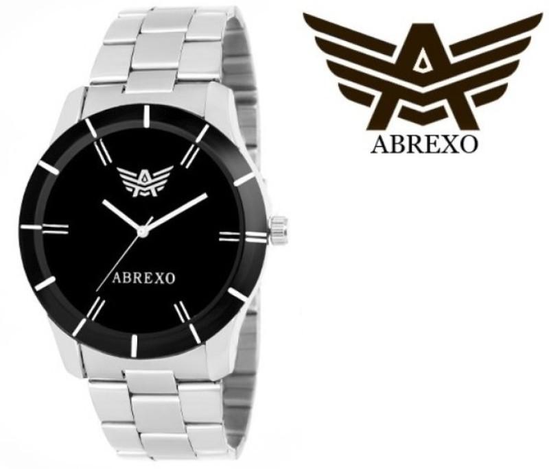 Abrexo Abx 1501 BK SLV Analog Watch For Men