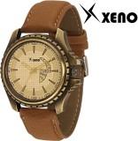 Xeno ZD000304 Brown Leather Men Analog W...