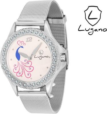 Lugano LG2016DE Sheffer Chain Analog Watch  - For Women, Girls