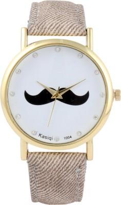 COSMIC Moustache Unisex Analog Wrist Watch-light brown strap Analog Watch - For Men