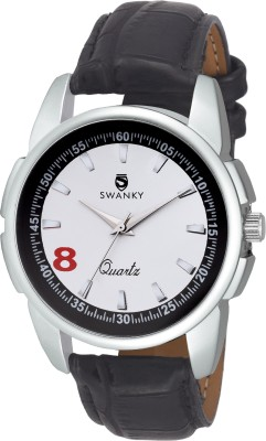 Swanky SC-MW-Dgt08-Wh Analog Watch  - For Men