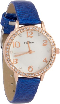 Forest Addic Crystal Studded Case And Dial (36) Analog Watch  - For Women