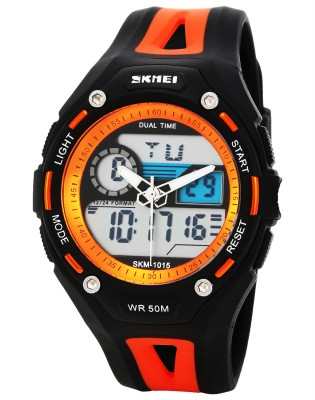 Skmei AD1015-Orange Sports Analog-Digital Watch - For Men & Women