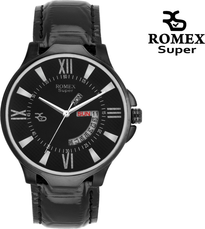 ROMEX Blacky Day N Date Analog Watch For Men