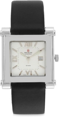 Swiss Military 402 WHT/BLK UNISEX MULTIFUNCTION Analog Watch  - For Men, Women