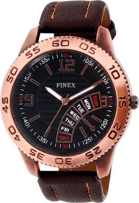 Finex FGLSCPRBK, 36 Analog Watch  - For Men