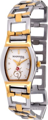 Madonna MDN-014-SS-SIL-WHT Analog Watch  - For Women