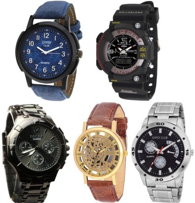 Gypsy Club GC158 Combo of 5 Men Watch Analog-Digital Watch  - For Men