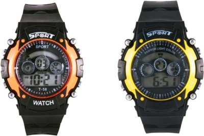 Crazeis WT-MCCH2OR-YL-C Digital Watch  - For Boys