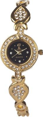 Lenco CPLENCOLADIES7004B Lenco Golden Beauty Analog Watch  - For Women