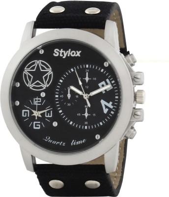 Stylox WTH-STX404 Black Analog Watch  - For Men