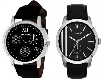 Asgard COMBO 3GOLS&2LINES Analog Watch  - For Men, Boys