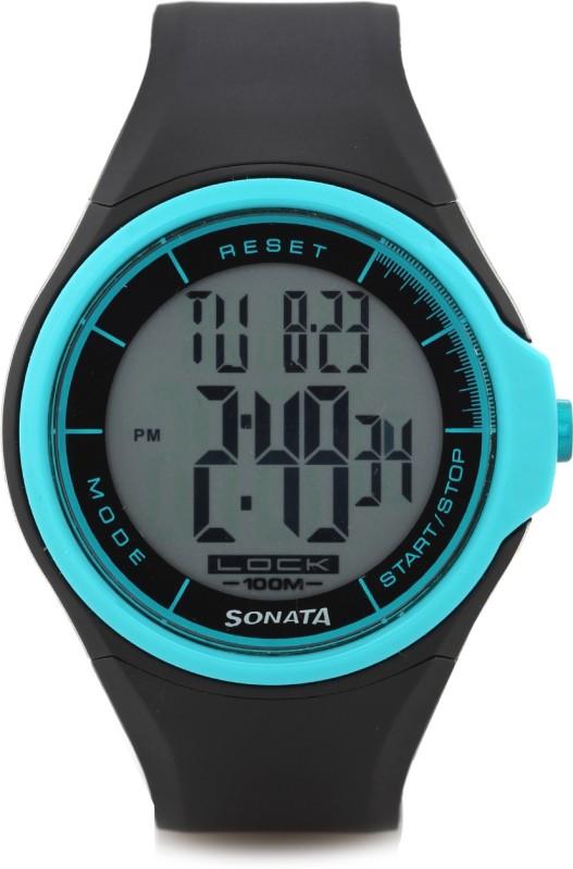 Sonata NH7992PP12J Super Fibre Digital Watch For Men
