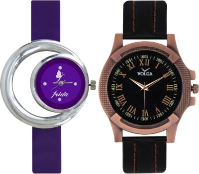 Frida Designer VOLGA Beautiful New Branded Type Watches Men and Women Combo128 VOLGA Band Analog Watch  - For Couple