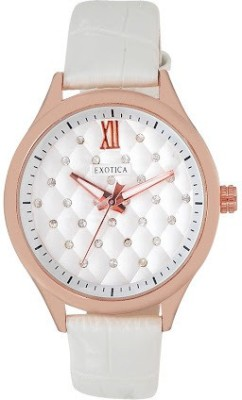 Exotica Fashions EFL-708-White Basic Analog Watch  - For Women