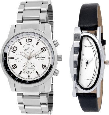 Gesture Elegant combo EG8 Elegant Analog Watch  - For Couple