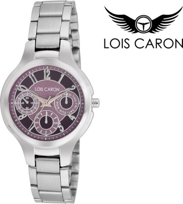 Lois Caron Lcs-4513 Violet Chronograph Pattern Analog Watch  - For Girls, Women