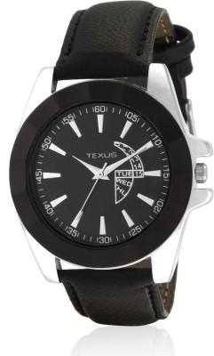 Texus TXMW93 Black Analog Watch  - For Men, Boys