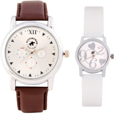 Pittsburgh Polo Club PBPC-CB-9306 Analog Watch  - For Couple