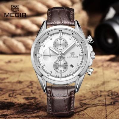 Megir 5005-Brown Analog Watch  - For Men