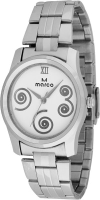 Marco MR-LR068-WHT-CH Marco Analog Watch  - For Women