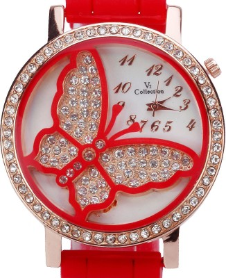Zoya-Hongz ZHZ-BUTRD-06 Butterfly Dial Analog Watch  - For Girls, Women