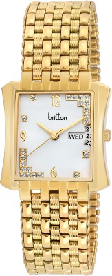 Britton Day and Date Display-BR-GSQ050-SLV-GLD Analog Watch  - For Men