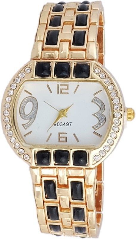 Super Drool SD0132WTGOLDWHITE Analog Watch For Women
