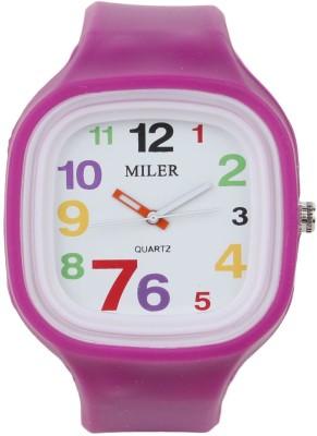Castech MILER BIGDIGIT Purple Analog Watch  - For Boys, Girls