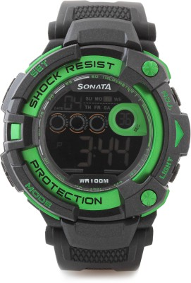Sonata NH77010PP03J Ocean Digital Watch  - For Men