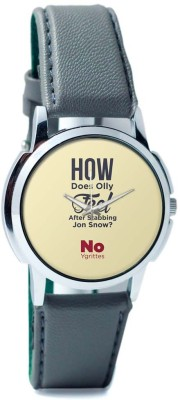 PosterGuy Olly Jon Snow Funny | Game Of Thrones -1243097726-RS1-W-GRY Analog Watch  - For Men