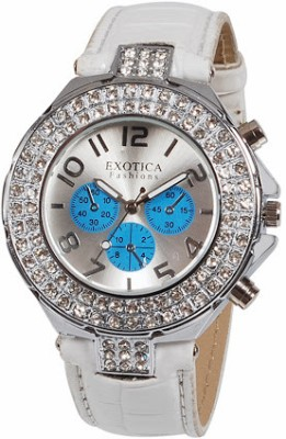 Exotica Fashions EF-N-07-White-Blue Women's Analog Watch image