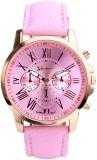 Geneva Quartz Rose Gold Case Pink Dial A...