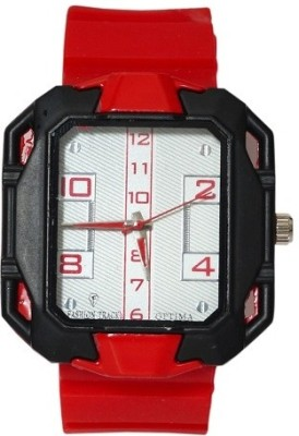 Optima OFT0001-Red Fashion Track Analog Watch  - For Men, Boys