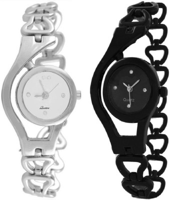 TRUE COLORS GLORY SILVER BLACK COMBINATION PARIS FASHION Analog Watch  - For Girls, Women