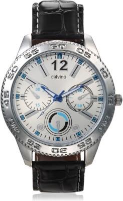 Calvino CGAS-151480_BLK-SILVER Analog Watch  - For Men