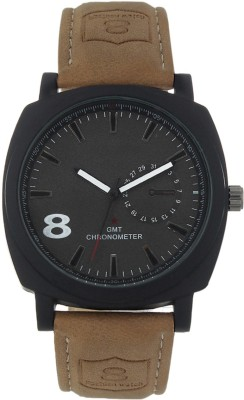 3WISH CUR LEATHER BLACK MILITARY Analog Watch  - For Men, Boys