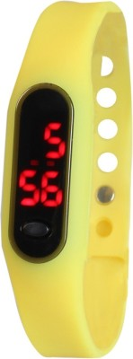 Frenzy Sleek_Ultra Thin_Yellow_LED Digital Watch  - For Men, Women, Boys, Girls