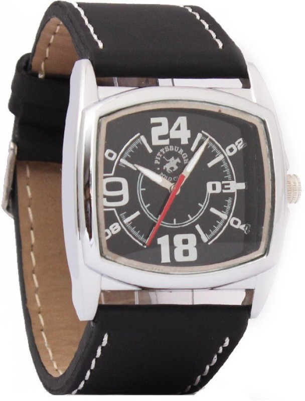 Pittsburgh Polo Club PBPC SQ 496 BLK266 Analog Watch For Men