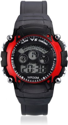 Aviva Sports SS - Red In Black Digital Watch  - For Boys