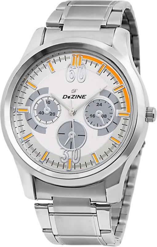 Dezine DZ GR0801 WHT CH Decker Analog Watch For Men
