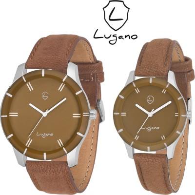 Lugano DE1048LG Analog Watch  - For Couple