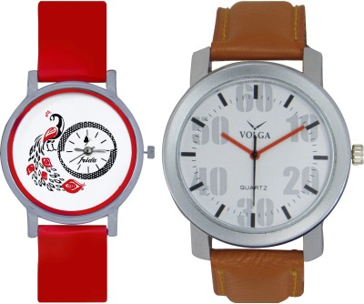 Frida Designer VOLGA Beautiful New Branded Type Watches Men and Women Combo169 VOLGA Band Analog Watch  - For Couple