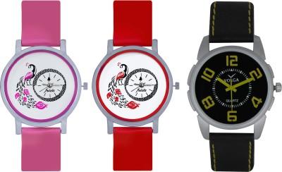 Frida Designer VOLGA Beautiful New Branded Type Watches Men and Women Combo611 VOLGA Band Analog Watch  - For Couple