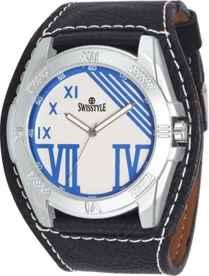 Swisstyle SS-GR044-WHT-BLK Analog Watch  - For Boys