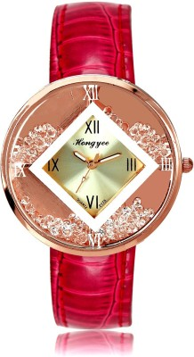 Hongyee Stylish Crystal Dial Analog Watch  - For Women
